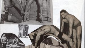Touko Laaksonens collage från cirka 1968.
