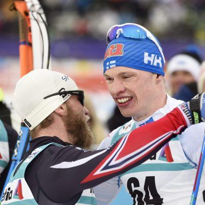 Martin Johnsrud Sundby kramar om Iivo Niskanen, VM 2017.