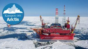 Gazproms oljerigg i Barents hav