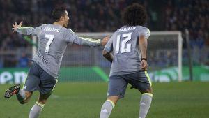 Cristiano Ronaldo och Marcelo, Roma-Real, 17.2.2016.