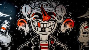 Graffiti av Deedeekid i THE HAUS