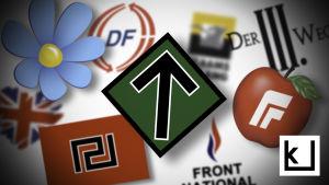 eurooppalaiset äärioikeisto, oikeistopopulismi -ryhmiä, logo