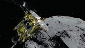 Den japanska rymdsonden Hayabusa2.