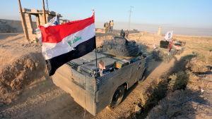 Irakiska styrkor i Kirkuk i oktober.