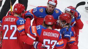 Ryssland slog Danmark i hockey-VM 2016.