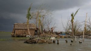 Förödelse efter storm i Burma