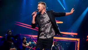 Justin Timberlake uppträder i Eurovision 2016.