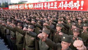 Den koreanska folkarmén är den fjärde största i världen med över 1,2 miljoner soldater