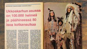 Suomalaisia intiaaniharrastajia.