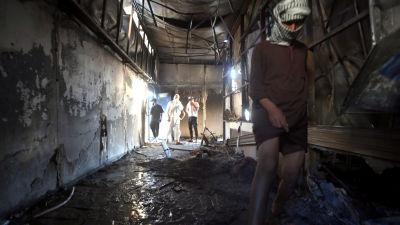En sönderbänd sjukhusavdelning i staden Nasiriyah i Irak.