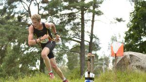 Sibbos belgiske Yannick Michiels var snabbast i sprinttävlingen vid FSOM i Tenala.