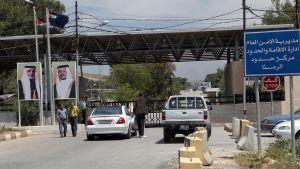 En gränskorsning mellan Jordanien och Syrien
