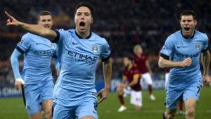 Samir Nasri firar, Roma-Manchester City i CL, 10.12.2014