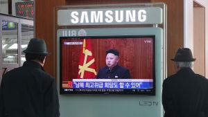 Kim Jong-uns nyårstal i Nordkorea