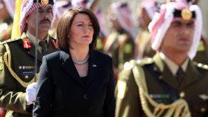 Kosovos president Atifete Jahjaga på besök i Jordanien år 2014.