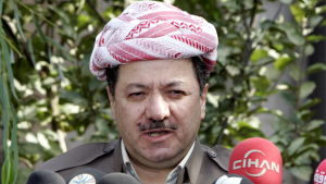 Kurdistans ledare Massud Barzai.