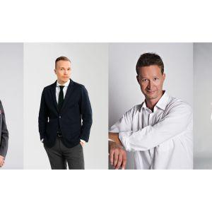 Heikki Ali-Hokka, Olli Seuri, Sakari Sirkkanen ja Annika Damström