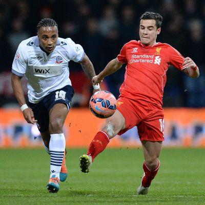 Philippe Coutinho avgjorde matchen mot Bolton.