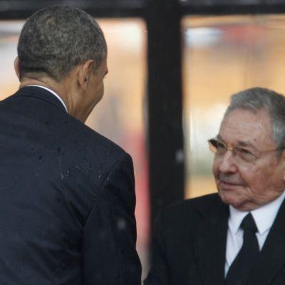 Castro och Obama möttes i december på Nelson Mandelas begravning