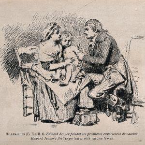 Läkaren Edward Jenner undersöker patient.