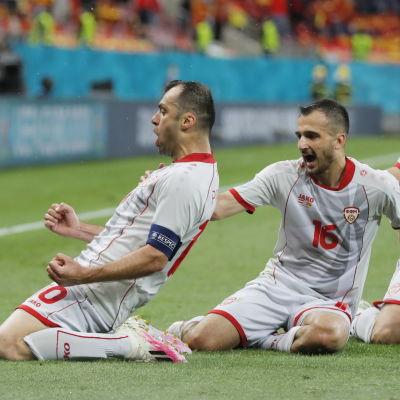 Nordmakedonien firar mål.