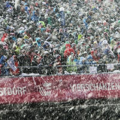 Snöfall i Oberstdorf