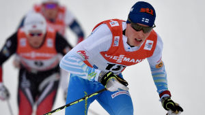 Matti Heikkinen var snabbast i jaktstarten i Oberstdorf, Tour de Ski 2017.