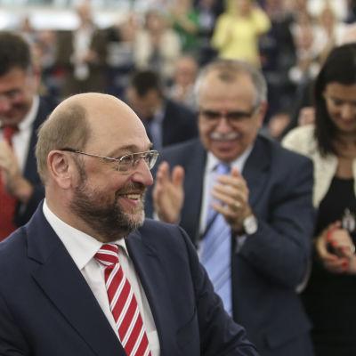Martin Schulz valdes till EU-parlamentets talesman igen den 1 juli 2014.
