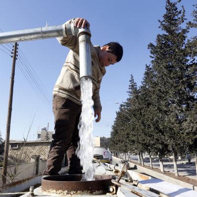 Vattenpump i Aleppo