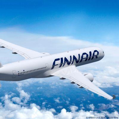 Ett Finnairplan av modellen Airbus A350 XWB