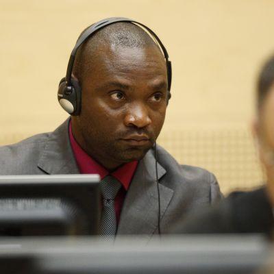 Den kongolesiska krigsherren Germain Katanga under rättegångens slutplädering i ICC i Haag i maj 2012