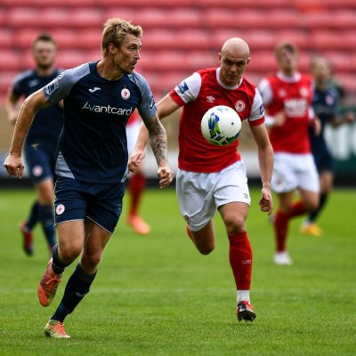 Teemu Penninkangas Sligo Roversin paidassa syyskuussa 2020.