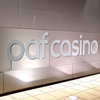 PAF Casinos byggnad i Mariehamn.