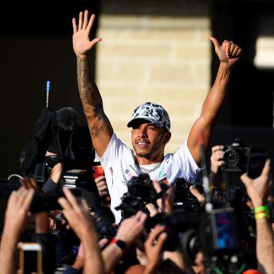 Lewis Hamilton, kuusinkertainen mestari, Austin 2019