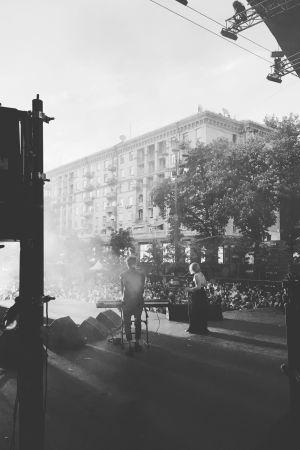 Duon Norma John på scenen i Kiev