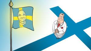 Karikatyr av Antti Rinne