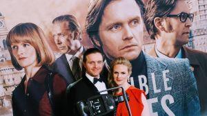 Pelle och Sophia Heikkilä inför tv-seriens galapremiär.