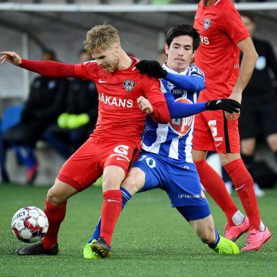 HJK och Inter i kamp