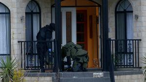 Polisen i Melbourne under en terrorism-förebyggande operation.