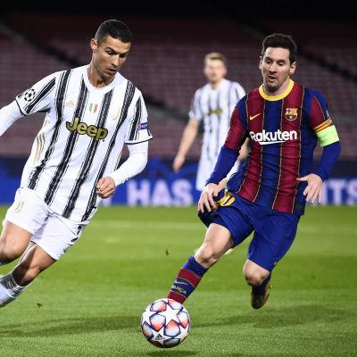 Cristiano Ronaldo och Lionel Messi.