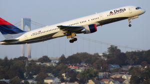 Amerikanska flygbolaget Delta Airlines.