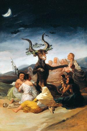 Häxsabbaten. Oljemålning av Francisco de Goya, 1797-1798.