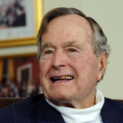 USA:s före detta president George H W Bush.