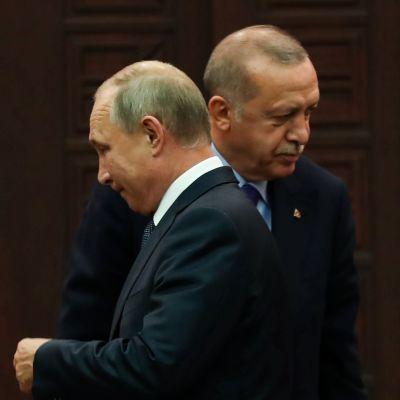 Rysslands president Vladimir Putin och hans turkiske kollega Recep Tayyip Erdoğan hade ett möte om situationen i Syrien den 16 september i Ankara.