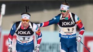 Emil Hegle Svendsen och Johannes Thingnes Bö.