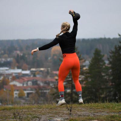 Stefanie Hagelstam vid Kokonbacken i Borgå hösten 2020.