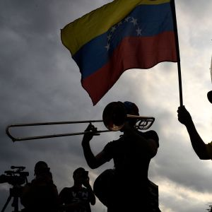Demonstration mot regeringen i Venezuela 12.3.2019 i Caracas