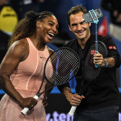 Serena Williams ja Roger Federer.