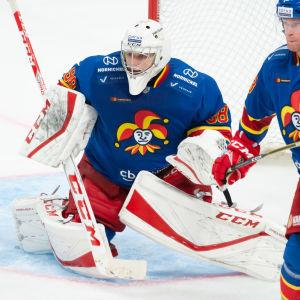 Jokertis målvakt Janis Kalnins.