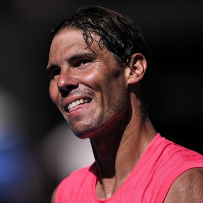 Rafael Nadal lähikuvassa.